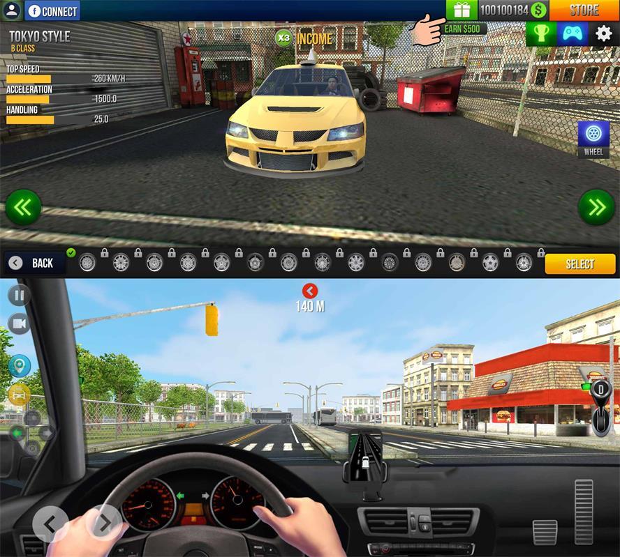 模拟驾驶游戏 出租车模拟器